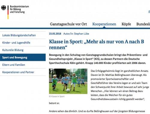 """Klasse in Sport Klasse in Sport: """"Mehr als nur von A nach B rennen"""""""